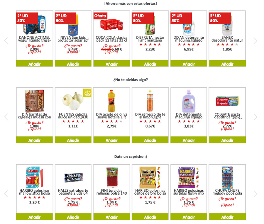 productos ecommerce dia
