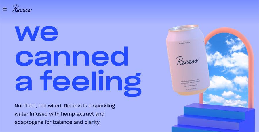 recess cbd website